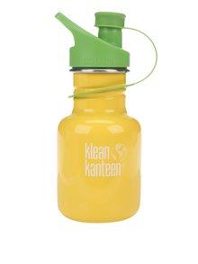 Sticlă de apă galben & verde Klean Kanteen Kid Classic Sport 355 ml