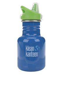 Tmavě modrá dětská nerezová lahev Klean Kanteen Kid Classic Sippy 355 ml