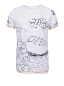Biele chlapčenské tričko s potlačou name it Star wars