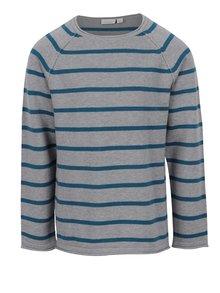 Modro-sivý chlapčenský pruhovaný sveter name it Gvar