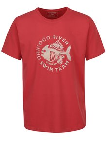 Červené pánske tričko s potlačou BUSHMAN Yoakum