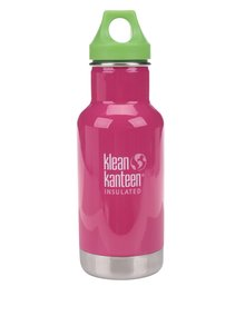 Ružová nerezová termo fľaša Klean Kanteen Kid Classic Insulated 355 ml