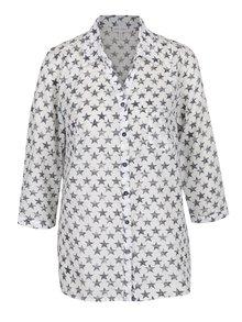 Krémová košeľa s motívom hviezd Gina Laura