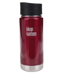 Cană termos burgundy Klean Kanteen Insulated Wide 473 ml