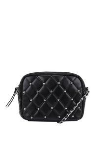 Černá crossbody kabelka s detaily ve stříbrné barvě TALLY WEiJL
