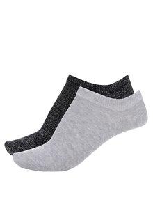 Súprava dvoch párov ponožiek v čiernej a sivej farbe TALLY WEiJL
