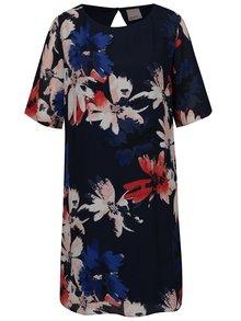 Tmavě modré květované šaty VERO MODA Megan