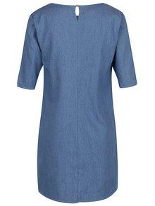 Svetlomodré bodkované rifľové šaty ZOOT
