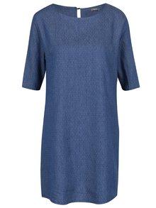 Tmavě modré puntíkované džínové šaty ZOOT