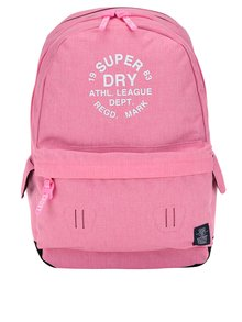 Rucsac roz melanj cu print Superdry League Montana