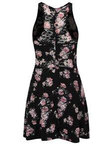 Čierne šaty s kvetovanou potlačou TALLY WEiJL