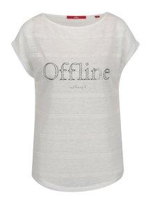 Krémové dámske voľné tričko s nápisom s.Oliver