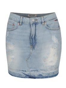 Světle modrá džínová mini sukně TALLY WEiJL