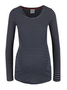 Tmavě modré pruhované těhotenské tričko Mama.licious Mind