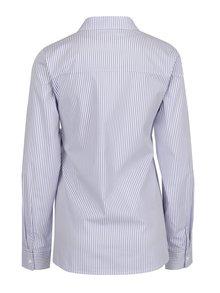 Modro-krémová pruhovaná těhotenská košile s mašlí Mama.licious Lenna