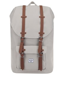 Béžový batoh s hnedými popruhmi Herschel Little America 25 l