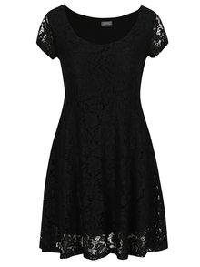 Rochie midi din dantelă neagră ZOOT