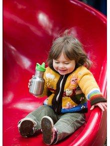 Červená detská nerezová fľaša Klean Kanteen Kid Classic Sippy 355 ml