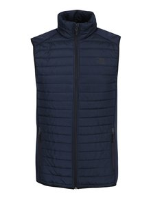 Vestă bleumarin matlasată impermeabilă Jack & Jones Tech Multi Body Warmer