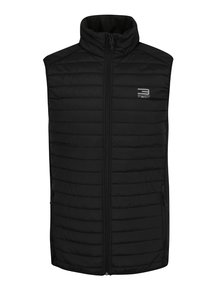 Vestă neagra  matlasată impermeabilă Jack & Jones Tech Multi Body Warmer