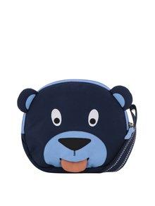 Tmavomodrá detská crossbody taška v tvare medveďa Affenzahn 2 l