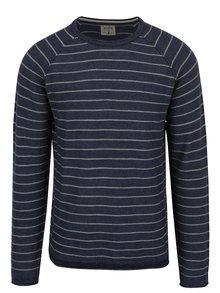 Modrý pruhovaný sveter Jack & Jones Romero