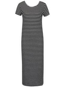 Černo-šedé dlouhé šaty s pruhy Only Abbie