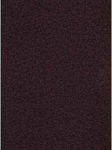 Vínové žíhané basic tričko s příměsí lnu Jack & Jones Randy