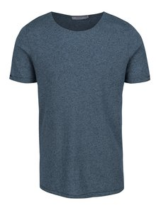 Tricou basic albastru melanj Jack & Jones Randy