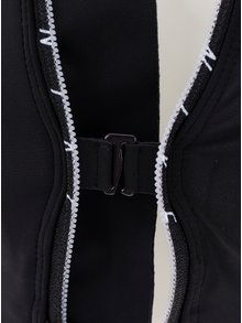 Bustier sport verde&negru cu fermoar Nike Shape zip