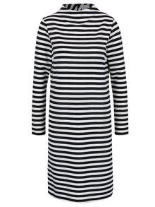 Tmavomodré pruhované šaty s dlhým rukávom VILA Faunas