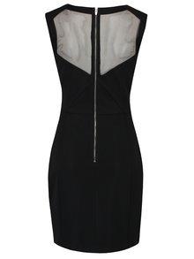 Černé pouzdrové šaty se síťovanými detaily VILA Starli