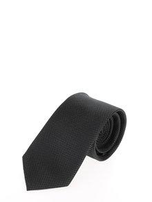 Cravată verde închis din mătase cu model discret Jack & Jones Premium Colombia