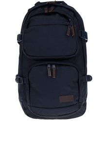 Tmavomodrý batoh s koženými detailmi Eastpak Hutson 27 l