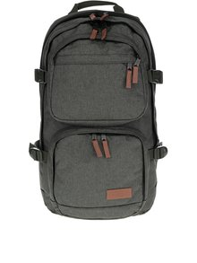 Zelený batoh s koženými detailmi Eastpak Hutson 27 l