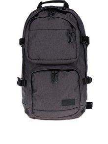 Sivý batoh s koženými detailmi Eastpak Hutson 27 l