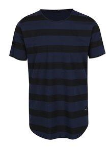Tricou cu dungi bleumarin cu negru ONLY & SONS Hako