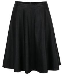 Čierna koženková sukňa ONLY Celina