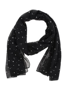 Černý vzorovaný šátek ONLY Beth