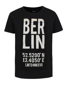 Čierne chlapčenské tričko s potlačou LIMITED by name it Rux