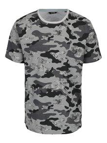Šedé triko s maskáčovým vzorem ONLY & SONS Hans