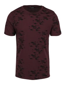 Tricou burgundy ONLY & SONS Hasse