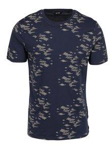 Tmavě modré vzorované triko ONLY & SONS Hasse