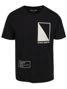 Černé triko s potiskem ONLY & SONS Andrew