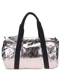 Ružová lesklá športová taška Pieces Joni