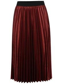 Fustă maxi plisată roșie ONLY Anna