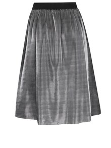 Lesklá sukňa v striebornej farbe Jacqueline de Yong Mesh