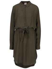 Tmavozelené košeľové šaty Selected Femme Nora
