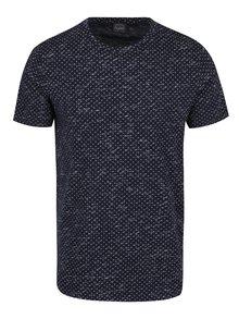 Tricou bleumarin cu print mărunt Jack & Jones Lineup