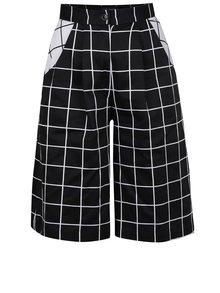 Bielo-čierne kockované culottes s vreckami THAÏS & STRÖE